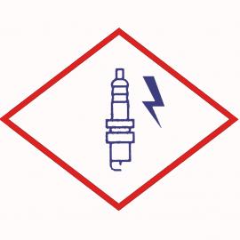 Свеча зажигания  BERU ZK 14-12-75 2 LA1 M14x1,25x12 специальная