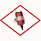 Ignition coil Altronic 591010 original red, long duration