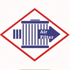 Air filter Donaldson P61-7372 for engines