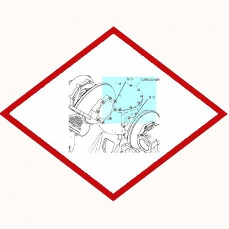 Болт высокотемпературный 8C8581 Caterpillar
