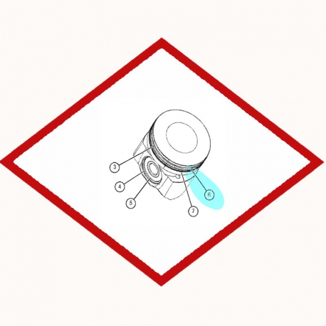 Кольцо поршневое Caterpillar 7E7581