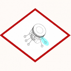 Кольцо поршневое 8N1234 OEM для Caterpillar